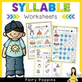 Syllable Worksheets (Phonological Awareness) *NEW*