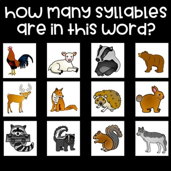 My Crazy Pets - Syllable Game