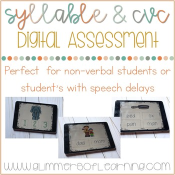 Syllable and CVC DIGITAL Reading Assessments