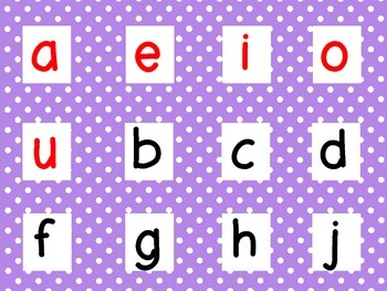 Syllable and Letter Cards for use in English and Dual Language Classrooms