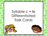 Syllable le Differentiated Task Cards