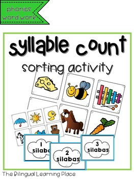 Syllable count- Spanish phonics activity