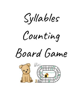 Syllable counting board game