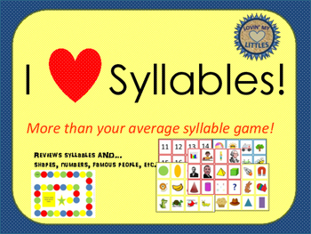 Syllable game, and other review