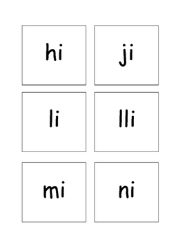 Syllable i cards
