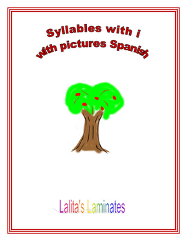 Syllable i cards with picture