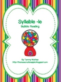 Syllable -le Bubble Reading