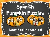 Syllable pumpkin puzzles spanish/ Palabras de 2 silabas