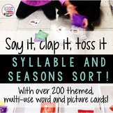 Syllable sort game