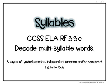 Multisyllables