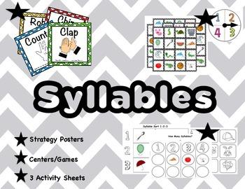Syllables: Worksheets ~ Games