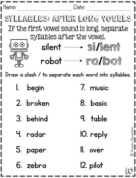 Syllables: Let's Learn About Syllables!