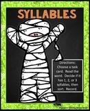 Syllable Sort | Halloween Activity