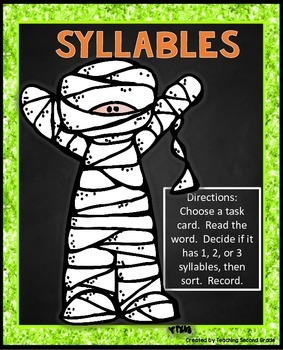 syllable sort halloween activity