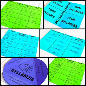 Syllables - Reading Interactive Notebook