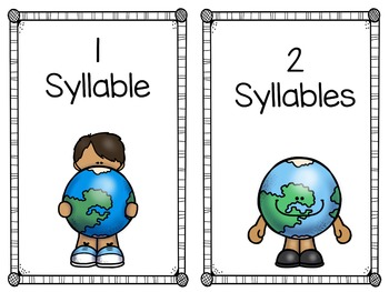 Syllables / Word Work / Earth Day Activities
