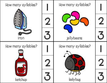 Syllable Identification Clip Cards Set 1