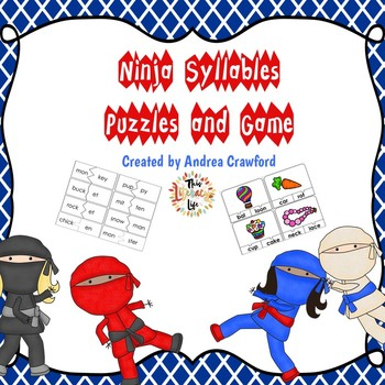 Syllables Puzzles and Game - Ninja Themed