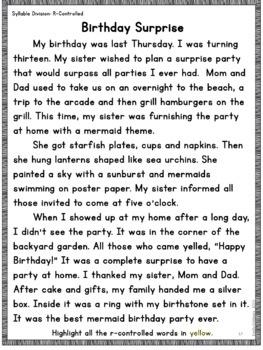 Orton-Gillingham Decodable Stories Syllables Reading Passages
