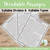 Orton-Gillingham Decodable Stories Syllable Types and Syll