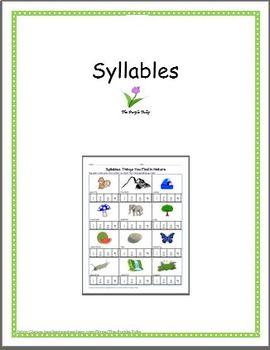 First Grade Syllables