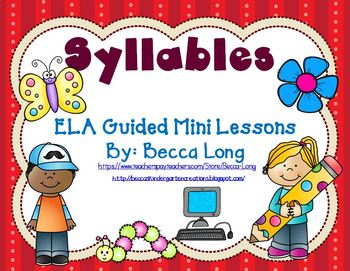 Syllables -5 day  ELA Mini Lessons