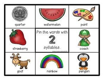 Syllables - Self-Checking Reading Centers