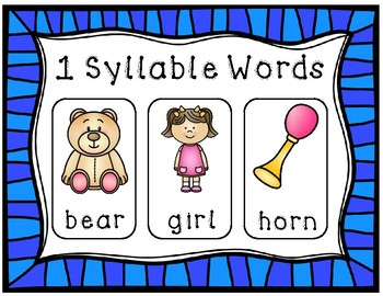 Syllables Activities