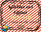 Syllables & Affixes, Unit 1 Digital Sorts (PPT & Google Slides) Plurals/endings