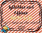 Syllables & Affixes, Unit 1 Digital Sorts (PPT & Google Sl
