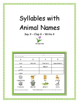 Syllables - Animals