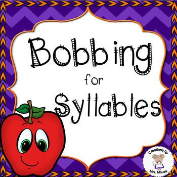 Phonics-Syllables - Bobbing for Syllables