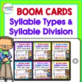 Syllables Boom Cards SYLLABLE TYPES & SYLLABLE DIVISION Bundle