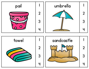 Syllables Clip Cards all Year {BUNDLE}