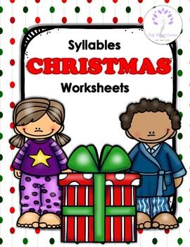 Syllables CHRISTMAS Worksheets