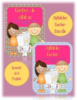 Syllables Center/Centro de Silabas:  English and Spanish Bundle