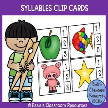 Syllables Clip Cards