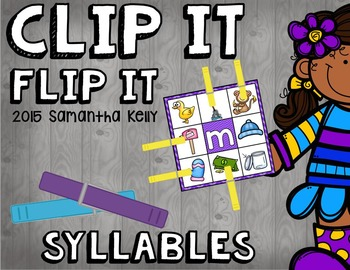 Syllables Clip and Flip Station