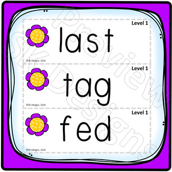 Syllables: Closed Rhyming, Reading, Fluency Fun Game Activity to build skills