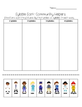 Syllables: Community Helpers