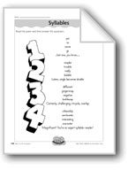 Syllables (Counting Syllables)