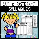 Syllables Worksheets Cut and Paste