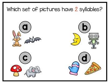 Syllables Digital Interactive Fun (Digital Classroom)