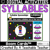 Syllables Boom Cards   Syllables Digital Task Cards for Di