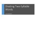 RF.1.3.e, RF.2.3, Syllables: Dividing Two-Syllable Words