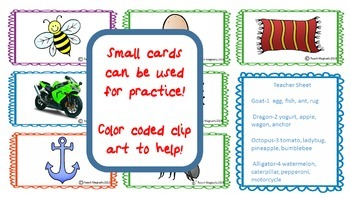 Phonemic Awareness Syllable Counting and No Prep Assessment