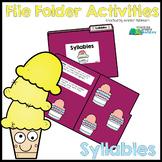 Syllables - File Folder Activity