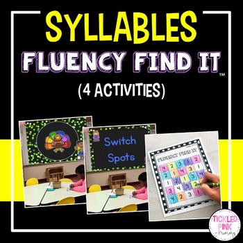 Syllables Fluency Find It