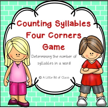 Syllables Four Corners Game