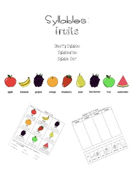 Syllables: Fruits